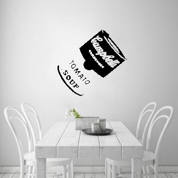 Samolepka na zeď - Plechovka Andy Warhol Tomato