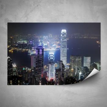 Plakát - Noční Hongkong