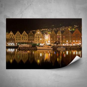 Plakát - Noční Bergen