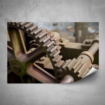 Plakát - Ozubená kola detail