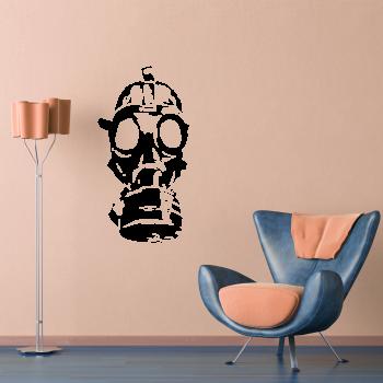 Samolepka na zeď - Plynová maska