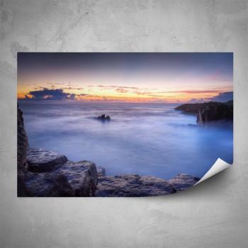 Plakát - Skalní útes v mlze