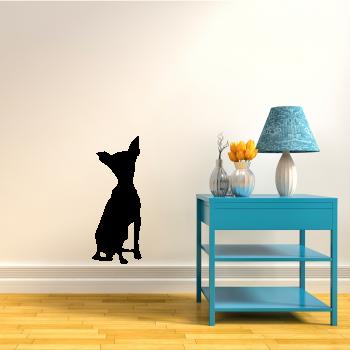 Samolepka na zeď - Silueta psa