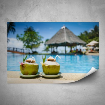 Plakát - Kokosový drink