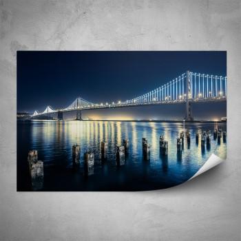 Plakát - Osvětlený most
