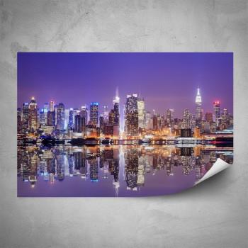 Plakát - Noční Manhattan