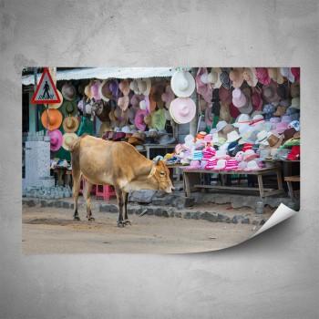 Plakát - Tržiště v Indii