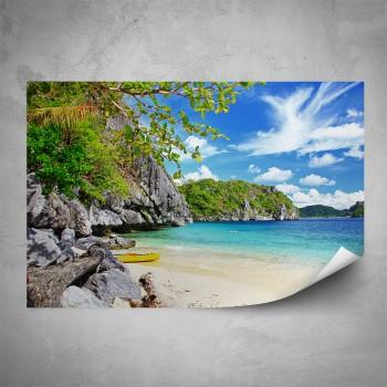Plakát - Útes na pláži