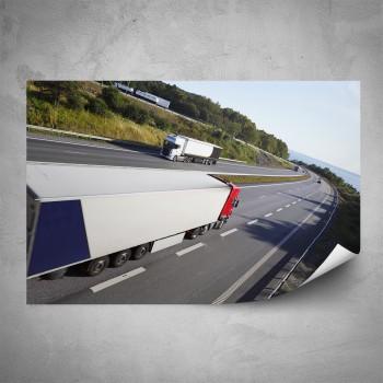 Plakát - Jedoucí kamión