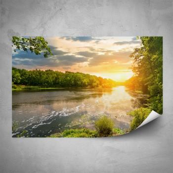 Plakát - Řeka v záři slunce