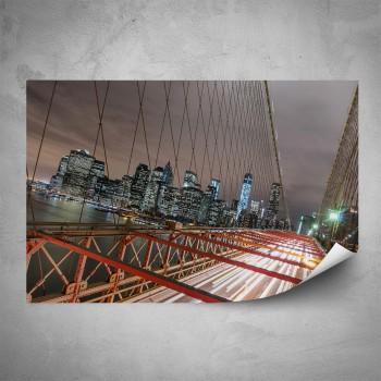 Plakát - Manhattan v noci