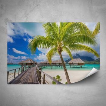 Plakát - Dřevěné molo na pláži