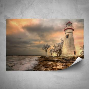 Plakát - Starý maják na útesu