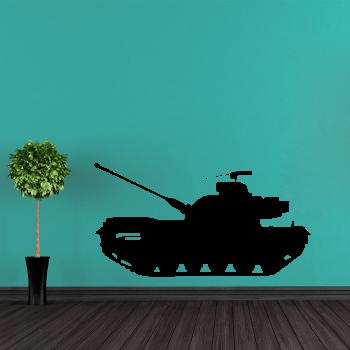 Samolepka na zeď - Tank 1