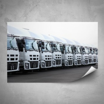 Plakát - Řada kamiónů