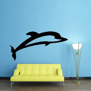 Samolepka na zeď - Delfín 2