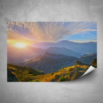 Plakát - Pohled do údolí