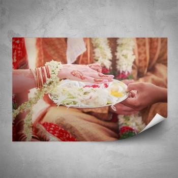 Plakát - Květiny na ruce