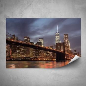 Plakát - Osvícený Manhattan