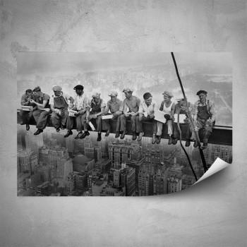 Plakát - Dělníci na traverze