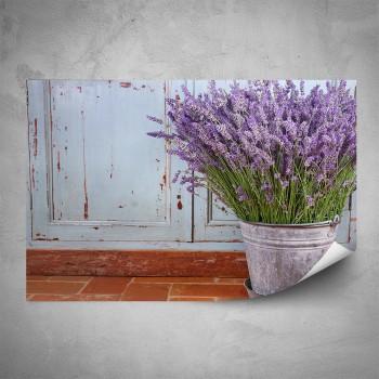 Plakát - Levandule v květináči