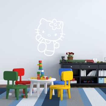 Samolepka na zeď - Hello Kitty 3