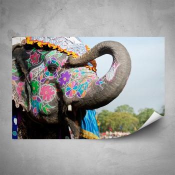 Plakát -  Veselý slon