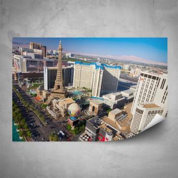 Plakát -  Pohled na Las Vegas