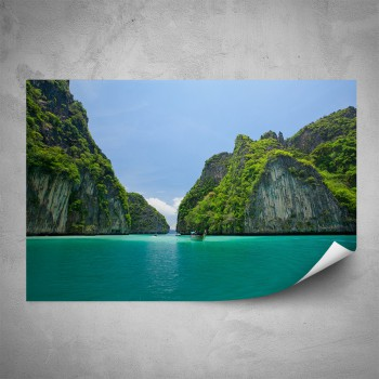 Plakát - Průplav mezi skalami