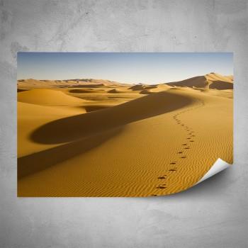 Plakát - Stopy v poušti