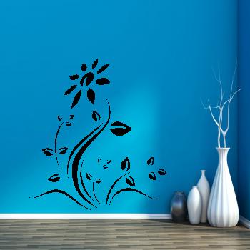 Samolepka na zeď - Rozkvetlá květina