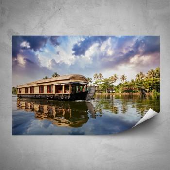 Plakát - Loď na řece