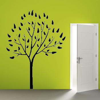Samolepka na zeď - Strom s listy