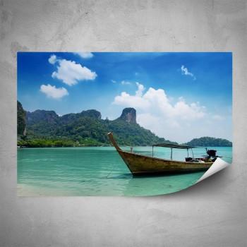Plakát - Zakotvená loďka