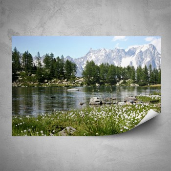 Plakát - Alpská řeka
