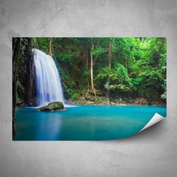Plakát - Lesní vodopád