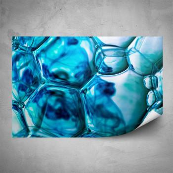 Plakát - Modré bubliny