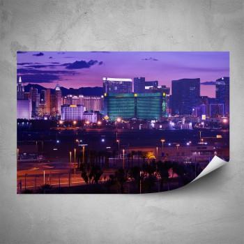 Plakát - Las Vegas v noci