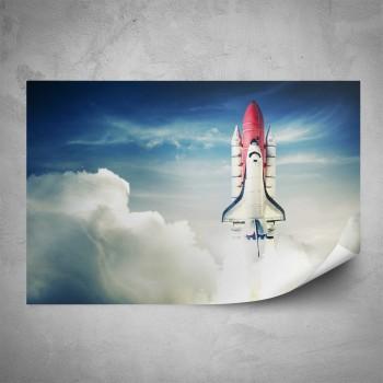 Plakát - Vesmírná raketa