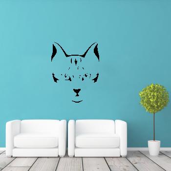 Samolepka na zeď - Kočičí tvář