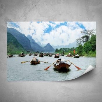 Plakát - Lodě na řece