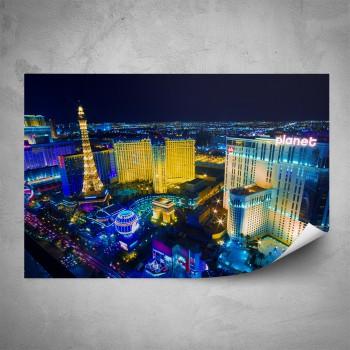 Plakát - Osvícené Vegas
