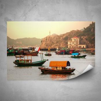 Plakát - Lodě v přístavu