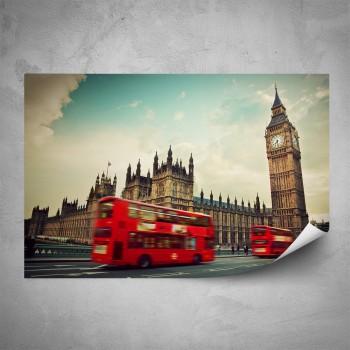 Plakát - Červený autobus