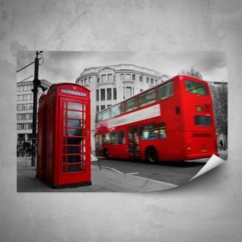 Plakát - Červený autobus 2