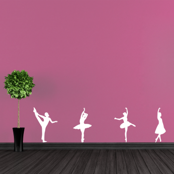 Samolepka na zeď - Baletky set