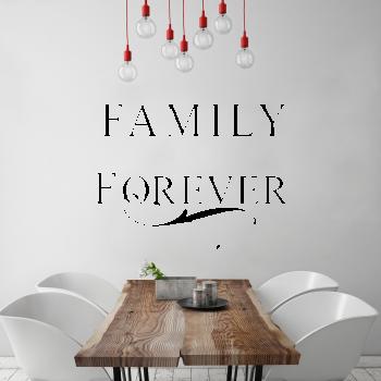 Samolepka na zeď - Family forever - 90x63 cm