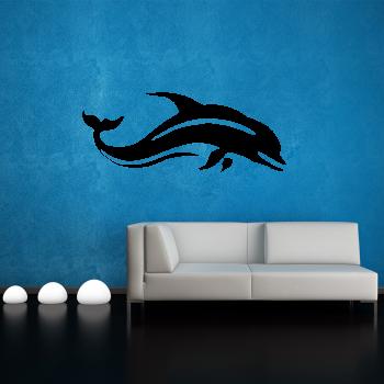 Samolepka na zeď - Delfín - 95x39 cm