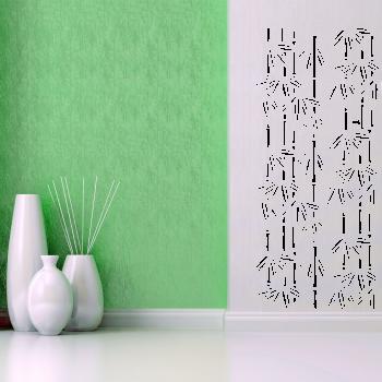 Samolepka na zeď - Bambus - 90x42 cm