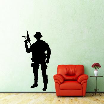 Samolepka na zeď - Voják